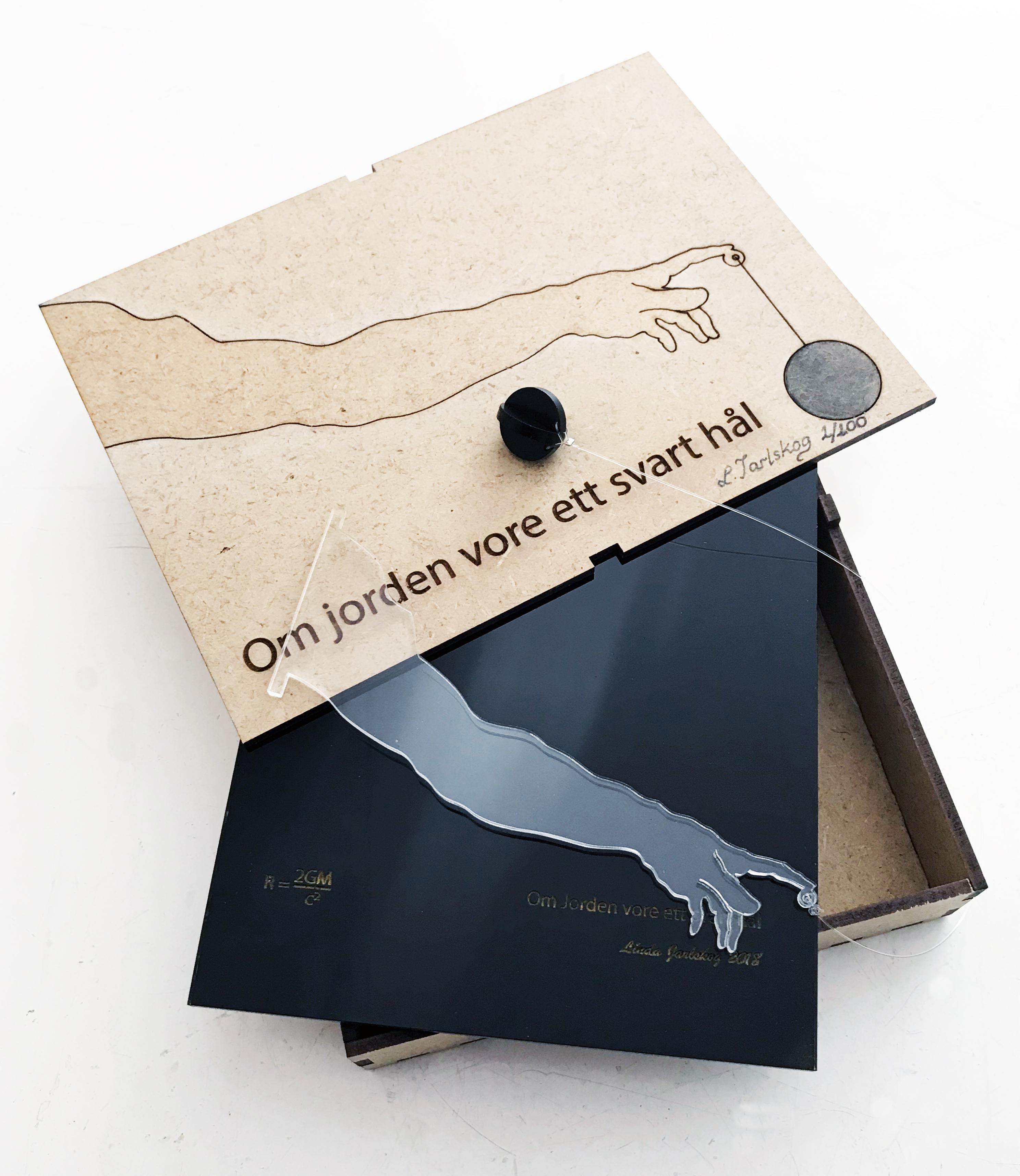 svart hål med låda fixad